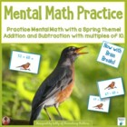 Spring Board Game with Mental Math Cards