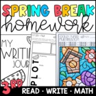 Spring Break Homework Packet for 3rd-4th Grades!