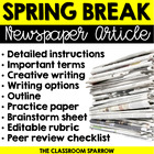 Spring Break Newspaper Article (write, practice & review!)
