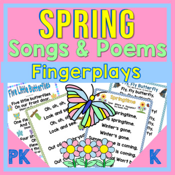 Spring Butterfly/Caterpillar Poems, Songs, Finger-Plays Pk-2