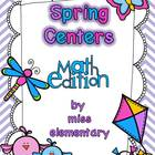 Spring Centers - Math Edition