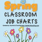 Spring Classroom Job Charts