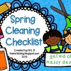 Spring Cleaning Checklist {Freebie}
