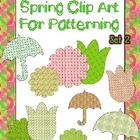 Spring Clip Art For Patterning Set 2 Commercial Use OK