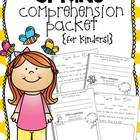 Spring Comprehension {for Kinders!}