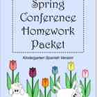 Spring Conference Homework Packet With Spanish Directions