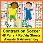 Spring Literacy Centers Contractions Soccer Activities - 4