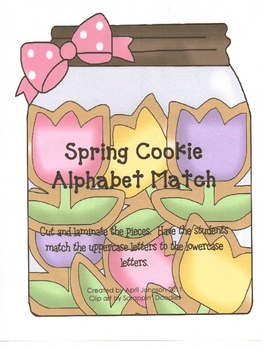Spring Cookie Alphabet Match