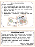 Spring Cookie Doubles (Addition & Subtraction)