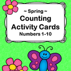 Spring Counting Activity Cards with Ten Frames