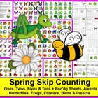 Spring Counting and Skip Counting Math Centers Activities
