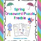Spring Crossword Puzzles Freebie