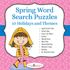 Spring Days - 10 Word Search Puzzles with Spring Holidays