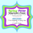 Spring Fever Frames Backgrounds Clip Art for Commercial Use