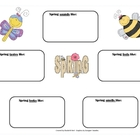 Spring Five Senses Graphic Organizer