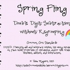 Spring Fling- Double Digit Subtraction without regrouping