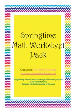 Spring Fling Math Worksheets