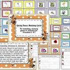 Spring Flower Matching Cards/Pre-reading Activity & Games