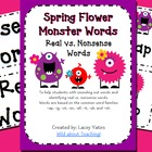 Spring Flower Monster Words-Real vs. Nonsense