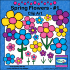 Spring Flowers Clip Art - Set 1