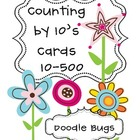 Spring Flowers Counting by 10's Cards 10-500 Math Center