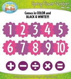 Spring Flowers Math Numbers Clipart — Over 30 Graphics