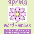 Spring Flowers Word Families - 62 different word families
