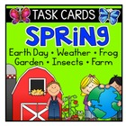 Spring Fluency Task Cards - Earth Day, Weather, Farm, Gard