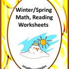 Spring Fun Printable Math and Reading Worksheets