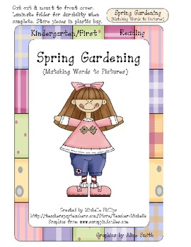 Spring Gardening! - Vocabulary Skills - File Folder Game