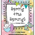 Spring Has Sprung -Center Activities for Math and Literacy
