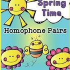Spring Homophone Pairs Center