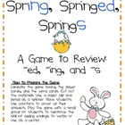 Spring Inflectional Endings Game