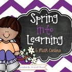 Spring Into Learning Math Centers & Activities {Common Core}