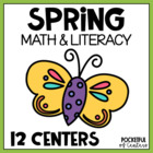 Spring Is Here! Math & Literacy Work Stations {10 Centers!}