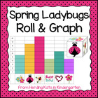Spring Ladybug Roll & Graph Activity