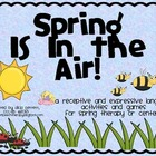 Spring Language activities and games, for speech language 