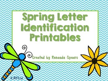 Spring Letter Identification Printables