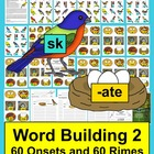 Spring Literacy Centers:  Birds & Nests - Word Building -