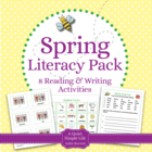 Spring Literacy Centers Learning Pack - Eight Reading and