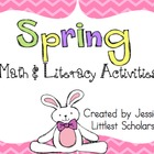 Spring Literacy & Math for Stations or Centers [Common Cor