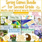 Literacy and Math Games for Second Grade Spring Bundle