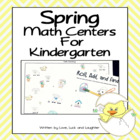 Spring Math Centers for Kindergarten