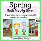 Spring Math Goofy Glyph (4th grade Common Core)