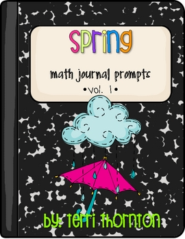 Spring Math Journal Prompts, Grades 3-5: Vol. 1