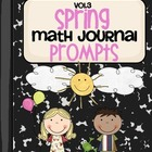 Spring Math Journal Prompts- Vol.3