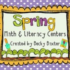 Spring Math &amp; Literacy Centers (22 in all!)