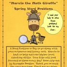 Spring Math Word Problems with Marvin the Math Giraffe