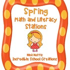Spring Math and Literacy Stations 102 pages!!