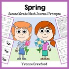 Spring Mathbooking - Math Journal Prompts (1st and 2nd grade)